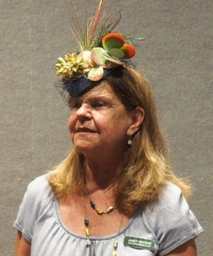 Janet Watson models her first place fascinator.