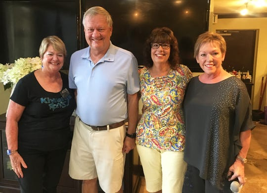 At the meeting we also inducted our newest member Goerge Wittman. Pat Hagedorn, president; Wittman, his wife Mary Ann and Donna Niemczyk, membership chair.