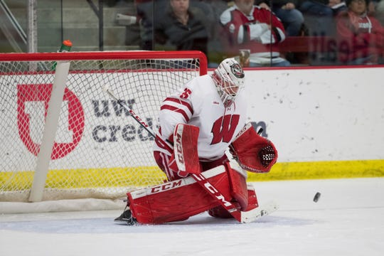Kristen Campbell recorded a 1.31 goals-against average and .931 save percentage over three seasons at Wisconsin.