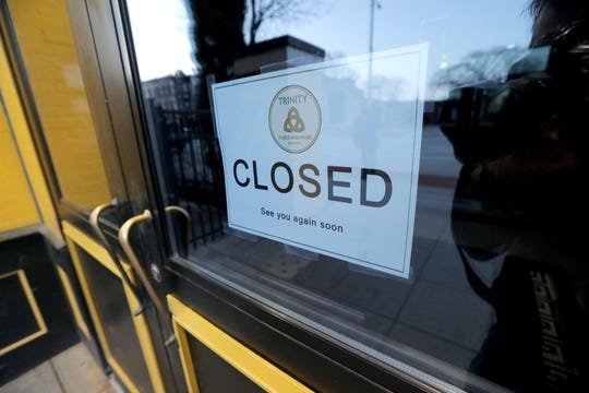 The Trinity on East Juneau Avenue is closed on St. Patrick's Day.