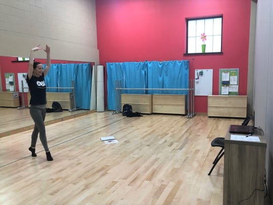 Danielle Lemanczyk, a dance teacher at the Academy of Performing Arts, filmed dance practice videos March 16, so her students can learn virtually.