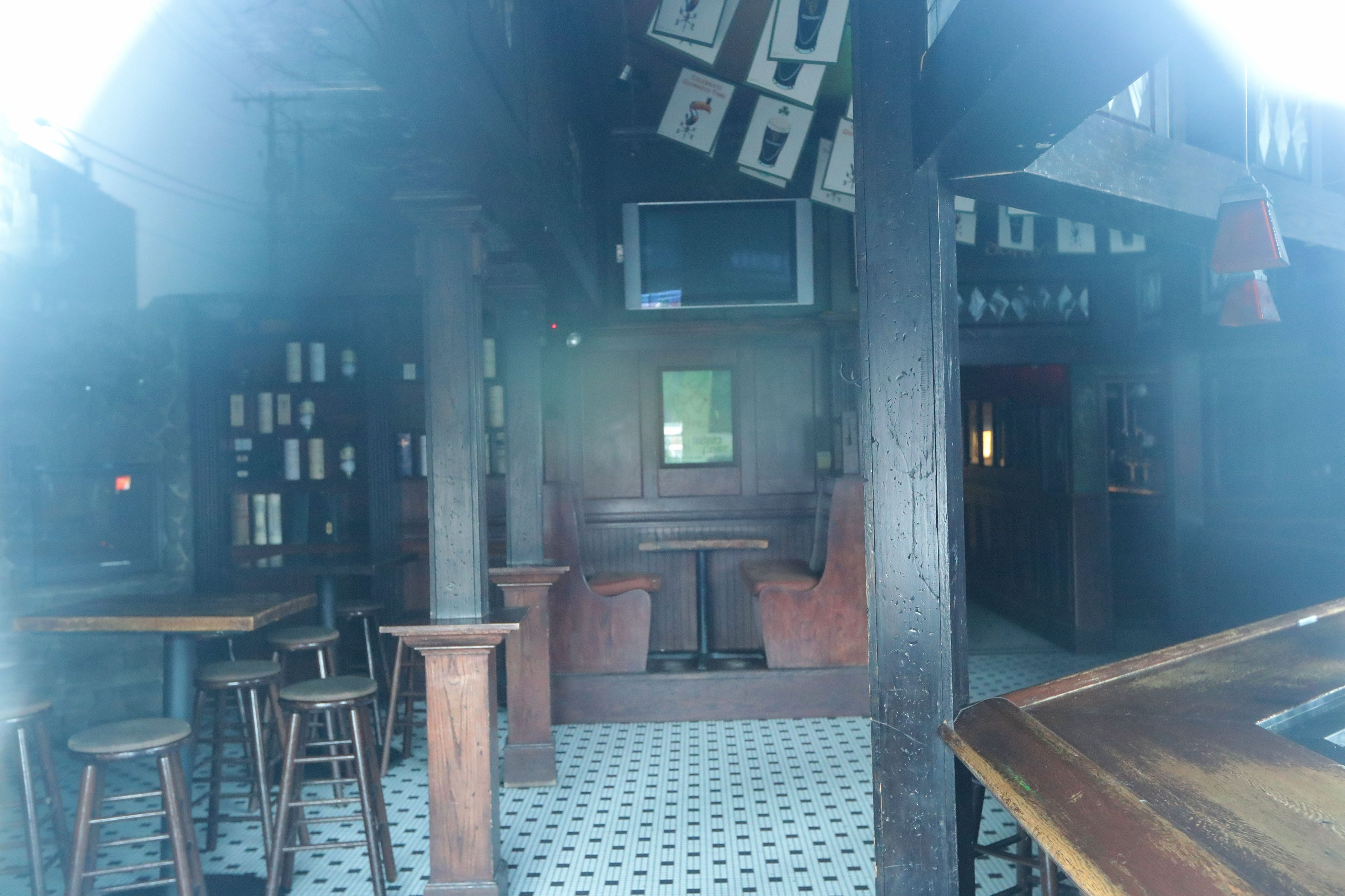 An empty Trinity pub on East Juneau Avenue is closed on St. Patrick's Day in Milwaukee on Tuesday.