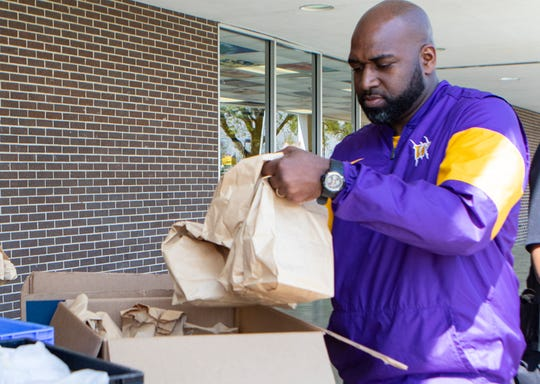 Wossman High School and other area Monroe, La. schools distributed breakfast and lunches to students on March 17 while the schools are closed due to the spread of COVID-19