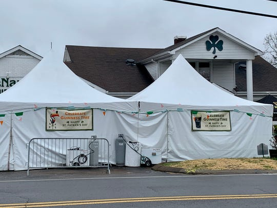 McNamara's in Donelson has set up tents outside for its annual St. Patrick's Day celebration March 17, 2020