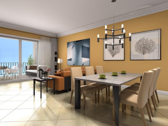 The Spinola is one of two furnished models available to tour at Genova's Open House.