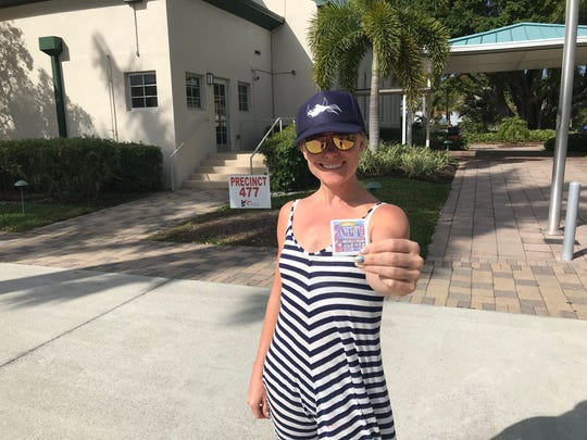 Shelley McKernan, 37 of Naples, voted at Precinct 477 this morning.