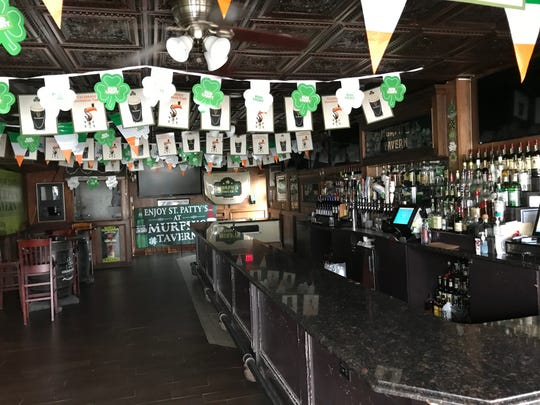 Murph's Bar in Totowa is all dressed up for St. Patrick's Day and empty.