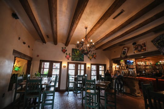 A dining area at La Posta de Mesilla is pictured during the lunch rush in Mesilla on Tuesday, March 17, 2020.