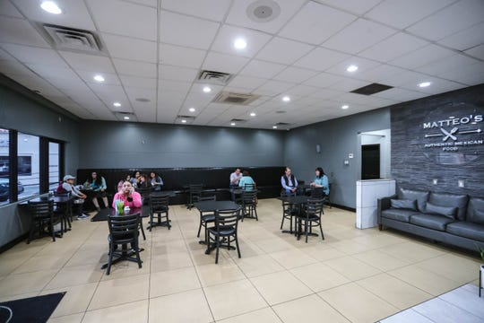 Matteo's Mexican Food had to renovate its dining room to meet state guidelines. The restaurant has seen delivery orders increase, but still had diners on Tuesday, March 17, 2020.