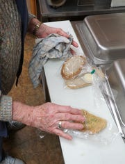 Meals on Wheels lunches were put together a the kitchen in Milford's Senior Center