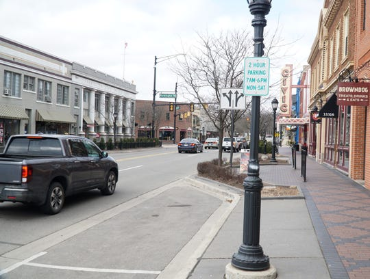 Farmington has temporarily relaxed its parking restrictions along Grand River Ave. so that local restaurants can bring out food orders to patrons waiting in their cars.