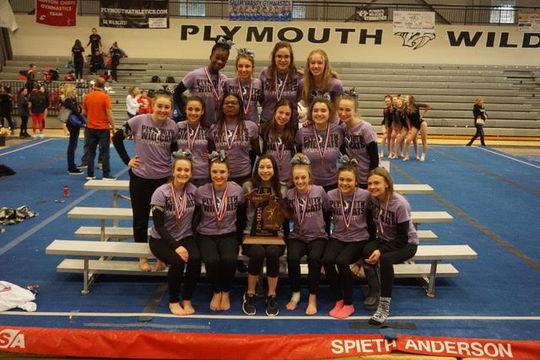 Plymouth gymnastics celebrates its first regional title in program history.