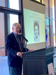 Ralph Nurnberger addresses the crowd at the Pearl Society women's philanthropy luncheon on March 9, 2020.