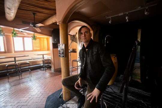 Clark Souter, a local musician played his last gig at Sammy G's in Palm Springs. The local musician does not know when he will next have work.