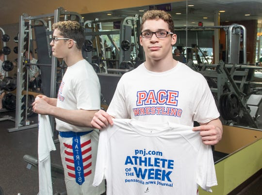 Athlete of the Week - Gabe Jacobs - Pace HIgh School wrestling.  March 17, 2020.