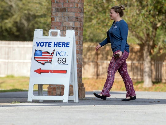 Despite the coronavirus threat, Escambia County voters visit the polls to cast their ballots during the 2020 presidential primary on Tuesday.