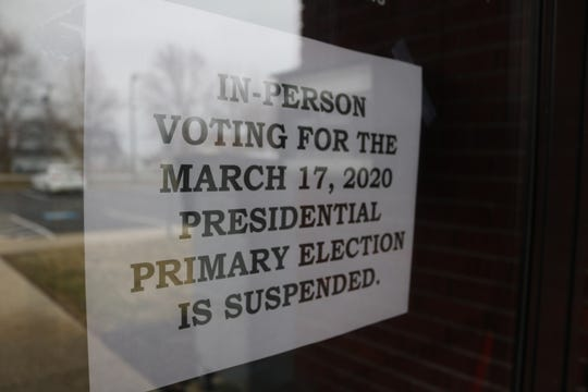 This notice posted Tuesday morning on the door of the Ottawa County Board of Elections in Salem Township came after a roller coaster of news Monday.