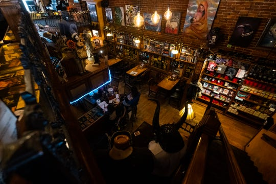 The Raven is mostly empty ahead of closing early Monday, March 16, 2020. It was ordered Monday morning that all restaurants close to dine-in customers to help prevent the spread of coronavirus.