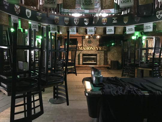 Mahoney's Irish Pub and Steakhouse offered takeout and curbside pick-up, but the City of Poughkeepsie bar was closed to the public on St. Patrick's Day, March 17, 2020.
