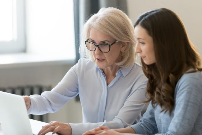 Mentoring involves an advisor who has a useful skillset, known as the mentor, providing an example for someone who wishes to acquire that skillset, known as the mentee.