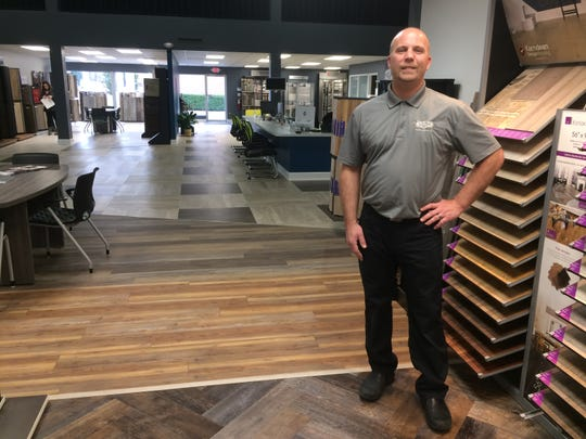 Aaron Ryan has moved Ryan's Flooring into its third building in less than five years as his company continues to grow.