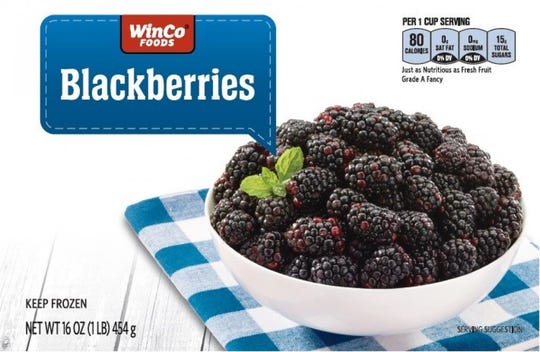 A recall was issued for frozen berries manufactured at a farm near Lynden, Washington and sold at WinCo stores.