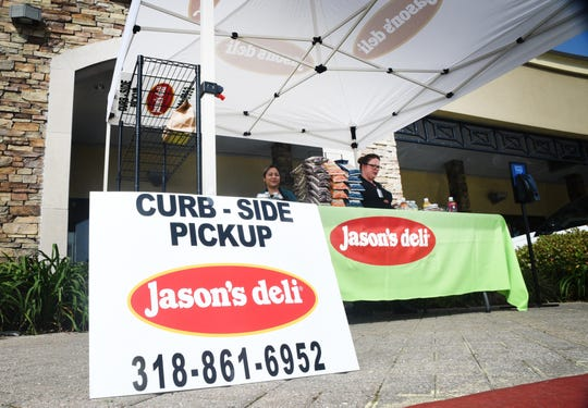 Jason's Deli on Line Ave. is doing curb-side ordering and pick-up to keep business open.