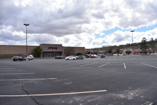 Parking lots around St. George thin out during the weekday due to concerns of the coronavirus (COVID-19).