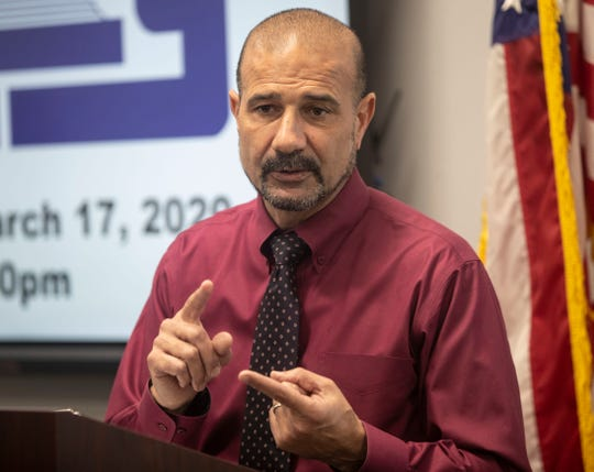 Leon County Schools Superintendent Rocky Hanna holds a press conference to provide updates on how the coronavirus is impacting the schools moving forward, Tuesday, March 17, 2020.
