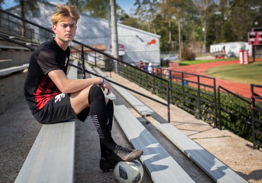 Leon senior forward Nick Ramsden is the 2020 All-Big Bend Player of the Year in boys soccer after scoring 31 goals with 15 assists during the Lions' 18-win season that ended in the Class 6A regional finals.