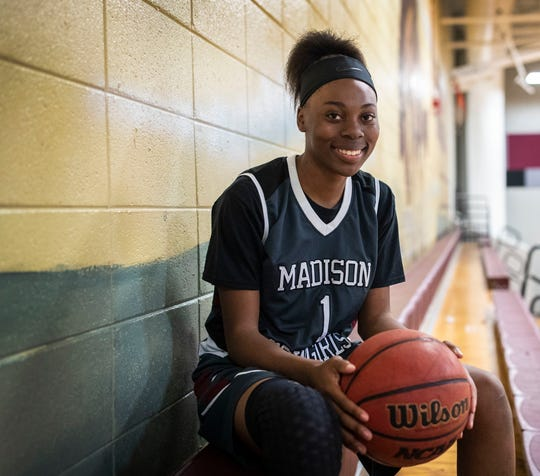 Madison County senior guard Lasage Ferguson is the 2020 All-Big Bend Defensive Player of the Year in girls basketball after averaging 13.5 points, 5.3 rebounds, 4.6 steals and 2.9 assists per game for a Cowgirls team that won 22 games and reached the Class 1A state semifinals.