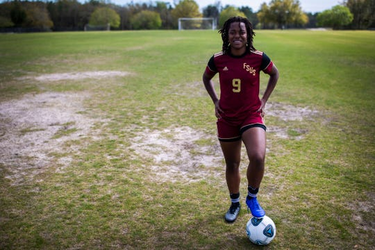 Florida High senior forward Janae Scott is the 2020 All-Big Bend Player of the Year in girls soccer after scoring 31 goals with 11 assists during the Seminoles' 11-win season that ended in the Class 3A regional semifinals.
