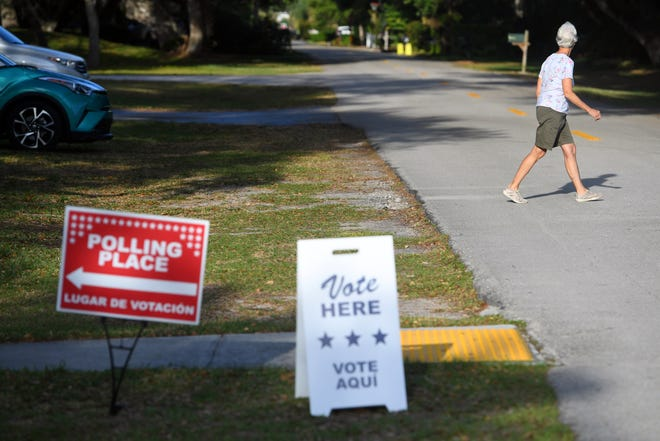 Community members begin to slowly trickle in to the precinct on Tuesday, March 17, 2020, at the Gifford Community Center in Indian River County. Indian River County voters on Aug. 18 will also head to the polls. On the ballot for schools-related issues is the renewal of a .5-mill property tax.