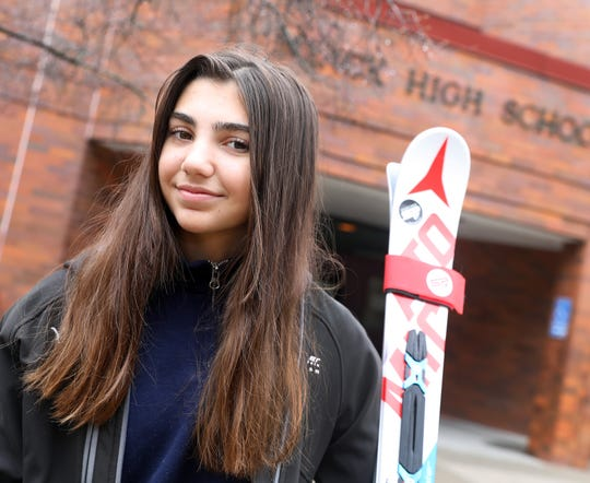 Alyssa Lundberg, the Rockland girls skier of the year was photographed at Nyack high School March 18, 2020.