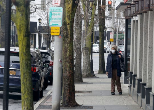 E. Post Rd. in White Plains was mostly desolate during the normally bustling lunch hour March 16, 2020. With restaurants and bars closed due to coronavirus concerns, restaurants were limited to take-out and delivery service.