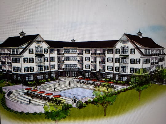 A rendering of the proposed 51-unit River View Place condominiums in Peekskill.