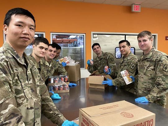 National Guard at Feeding Westchester