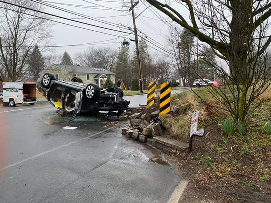 An 84-year-old Suffern man was seriously injured in a crash on Cragmere Road in Airmont on March 17, 2020.