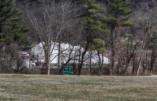 Tents erected in Anthony Wayne Recreation area in Stony Point in preparation for a drive through coronavirus testing site. Tuesday, March 17, 2020.