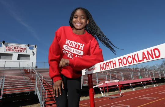 North Rockland's Nadia Saunders, the Rockland girls indoor track athlete of the year March 16, 2020.