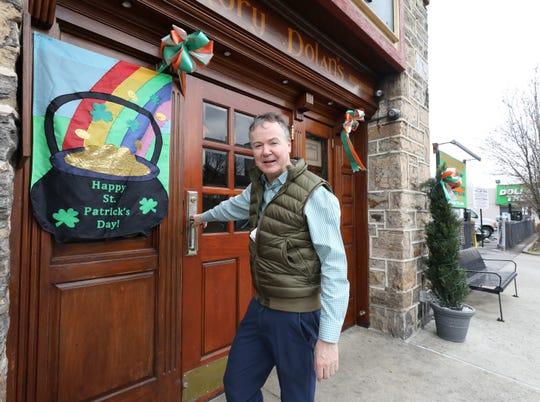 Rory Dolan is pictured at his establishment, Rory Dolan's Restaurant Bar on McLean Avenue in Yonkers, March 17, 2020.