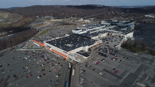 4:04 p.m. Nearly empty parking lots at the Palisades Center mall in West Nyack March 16, 2020.