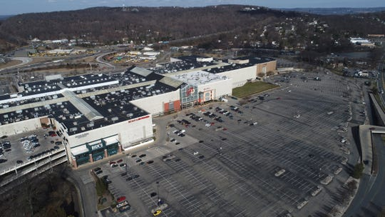 4:02 p.m. Nearly empty parking lots at the Palisades Center mall in West Nyack March 16, 2020.