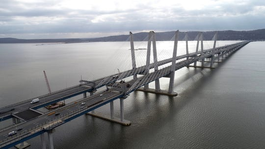 5:00 p.m. Lighter than normal traffic on the Mario M. Cuomo Bridge March 16, 2020.