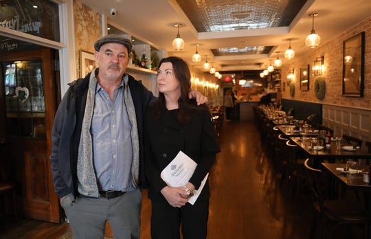 Eugene and Eileen Collum, the owners of  The Heritage Bar and Restaurant and Eileen's, on McLean Avenue in Yonkers, March 17, 2020.
