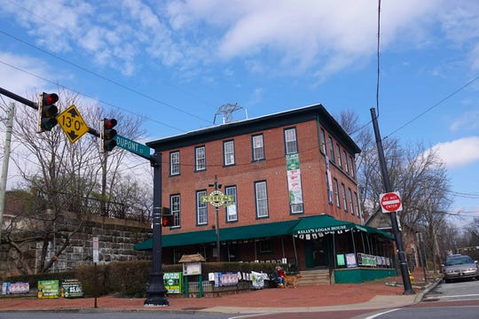 The Logan House in Trolley Square sits idle Tuesday afternoon on St. Patrick's Day after all restaurants in Delaware were ordered closed to combat the coronavirus outbreak.