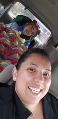 Nancy Lemus (right) and her son, Christopher