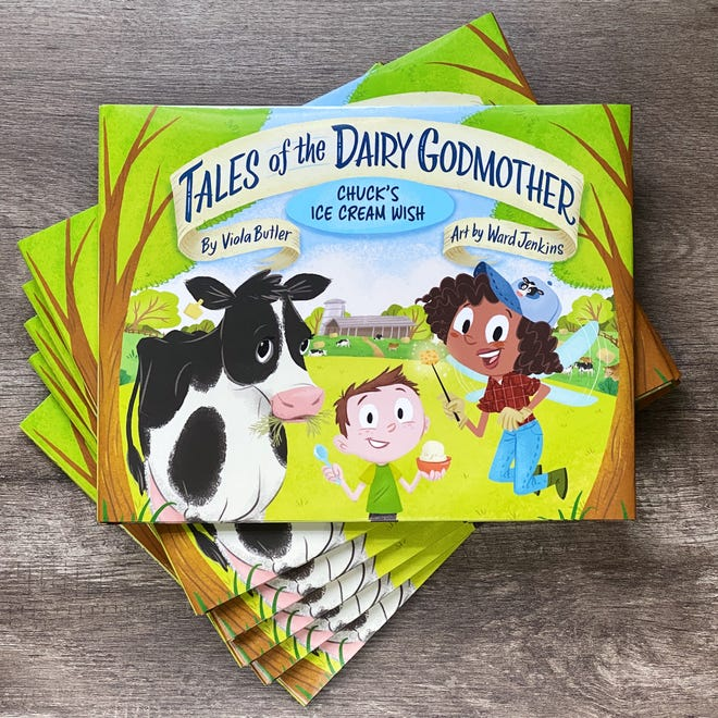 """New children's book """"Tales of the Dairy Godmother: Chuck's Ice Cream Wish"""" introduces readers to the round-the-clock work and ingenuity of dairy farming."""