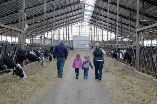 Keith and Kelly Oudenhoven spend time together at the farm with their children Josephine, Jackson, Allison and Clayton.