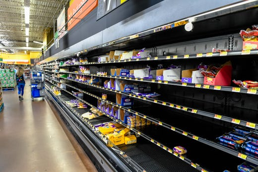 Image result for photos of empty shelves at schnucks
